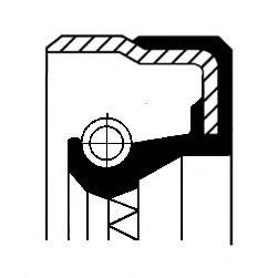 Уплотняющее кольцо CORTECO 01031879B (автоматическая коробка передач, дифференциал)