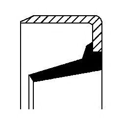 Сальник ступицы колеса CORTECO 12017123B