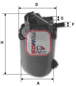 Топливный фильтр SOFIMA S 1061 NR