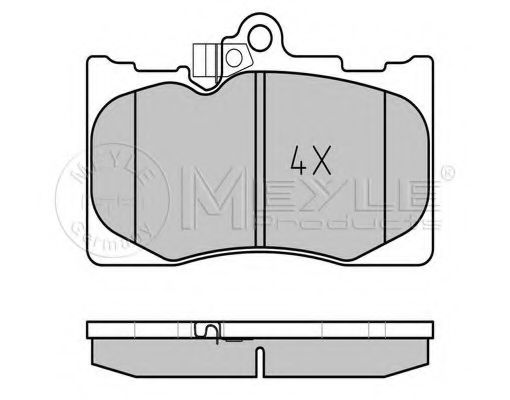 Тормозные колодки MEYLE 025 203 2517/W