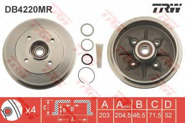 Тормозной барабан TRW DB4220MR