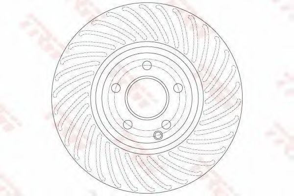 Тормозной диск TRW DF6195S