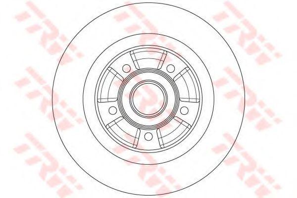 Тормозной диск TRW DF6201BS