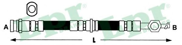Тормозной шланг LPR 6T48098
