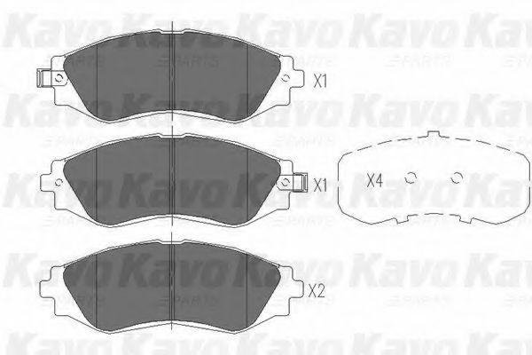 Тормозные колодки KAVO PARTS KBP-1001