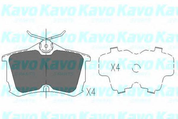Тормозные колодки KAVO PARTS KBP-2011