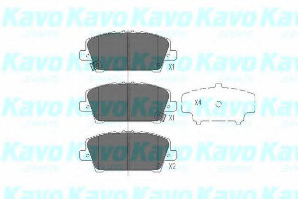 Тормозные колодки KAVO PARTS KBP-2013