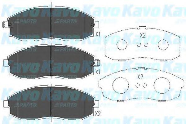 Тормозные колодки KAVO PARTS KBP-3003