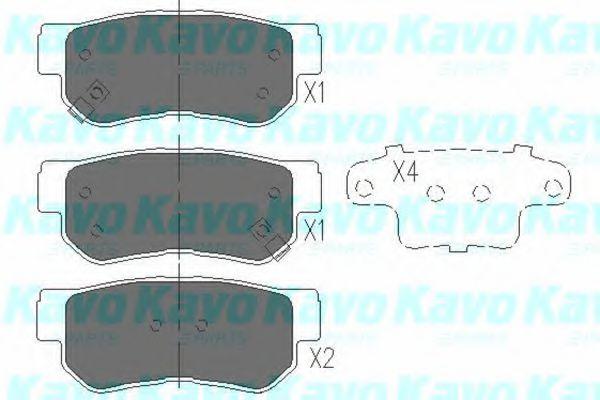 Тормозные колодки KAVO PARTS KBP-3005