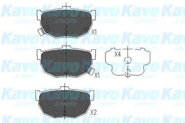 Тормозные колодки KAVO PARTS KBP-3007