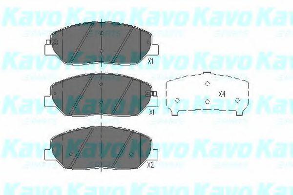 Тормозные колодки KAVO PARTS KBP-3023