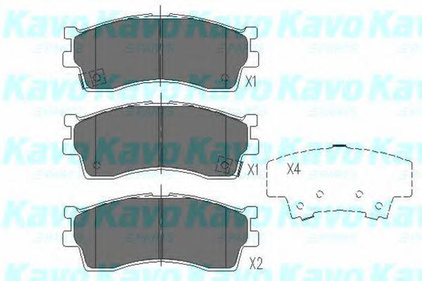 Тормозные колодки KAVO PARTS KBP-4002
