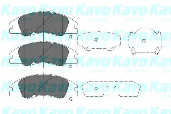 Тормозные колодки KAVO PARTS KBP-4003
