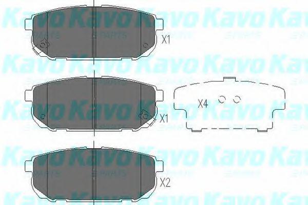 Тормозные колодки KAVO PARTS KBP-4015