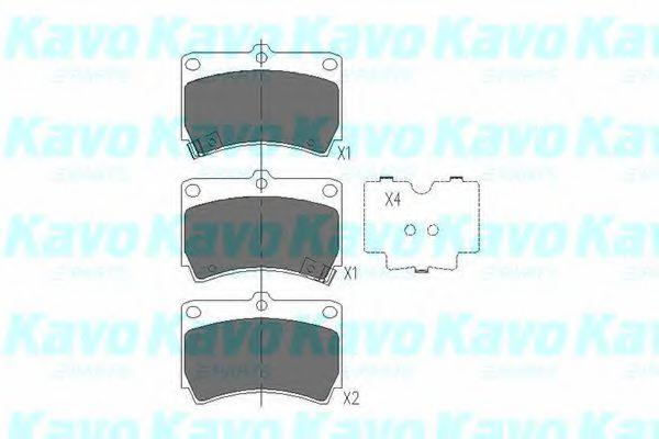 Тормозные колодки KAVO PARTS KBP-4501