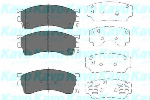 Тормозные колодки KAVO PARTS KBP-4503