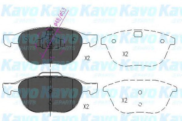 Тормозные колодки KAVO PARTS KBP-4513
