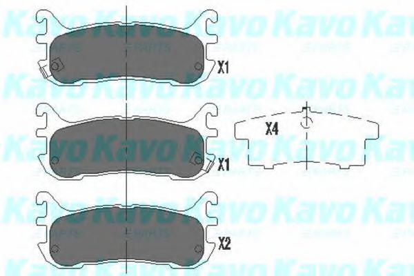 Тормозные колодки KAVO PARTS KBP-4539