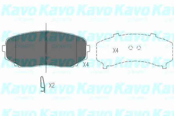 Тормозные колодки KAVO PARTS KBP-4558