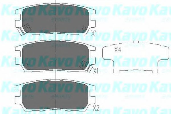 Тормозные колодки KAVO PARTS KBP-5504