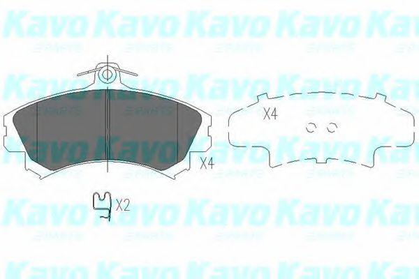 Тормозные колодки KAVO PARTS KBP-5507