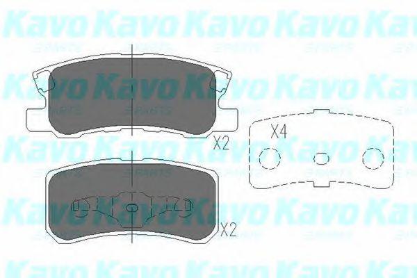 Тормозные колодки KAVO PARTS KBP-5515