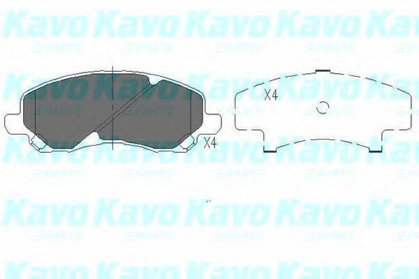 Тормозные колодки KAVO PARTS KBP-5516