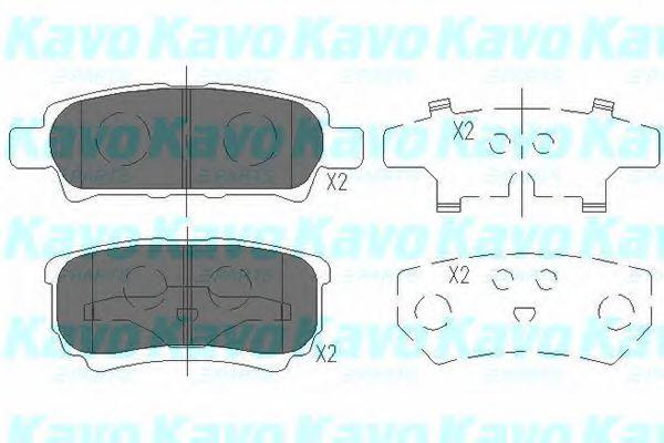 Тормозные колодки KAVO PARTS KBP-5518