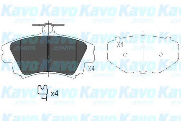 Тормозные колодки KAVO PARTS KBP-5519