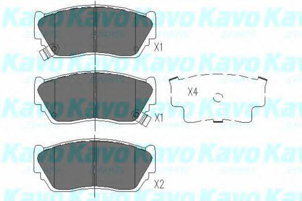 Тормозные колодки KAVO PARTS KBP-6504