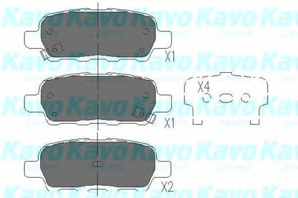 Тормозные колодки KAVO PARTS KBP-6517