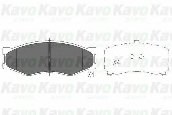 Тормозные колодки KAVO PARTS KBP-6522