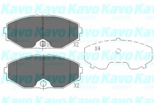 Тормозные колодки KAVO PARTS KBP-6553