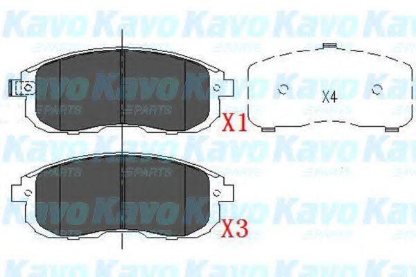 Тормозные колодки KAVO PARTS KBP-6557