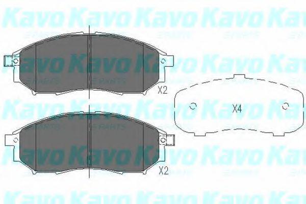 Тормозные колодки KAVO PARTS KBP-6567