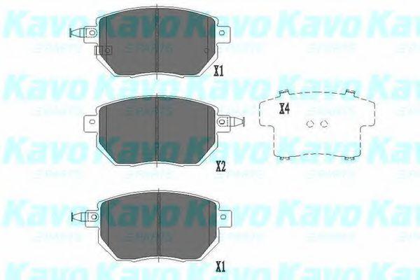Тормозные колодки KAVO PARTS KBP-6573