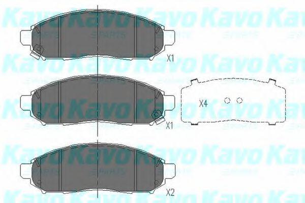 Тормозные колодки KAVO PARTS KBP-6574