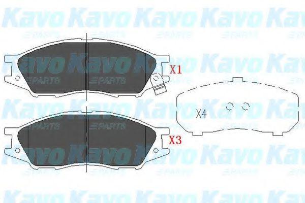 Тормозные колодки KAVO PARTS KBP-6577
