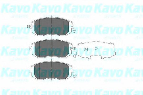 Тормозные колодки KAVO PARTS KBP-8004