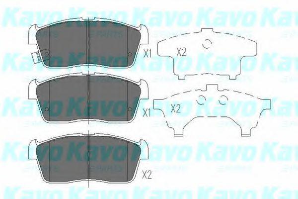 Тормозные колодки KAVO PARTS KBP-8507