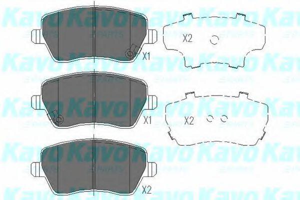 Тормозные колодки KAVO PARTS KBP-8522