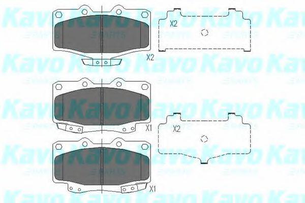 Тормозные колодки KAVO PARTS KBP-9004