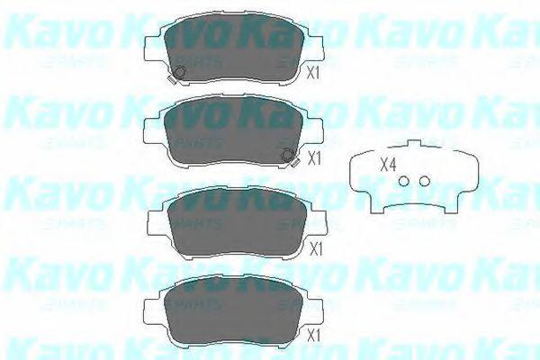 Тормозные колодки KAVO PARTS KBP-9008