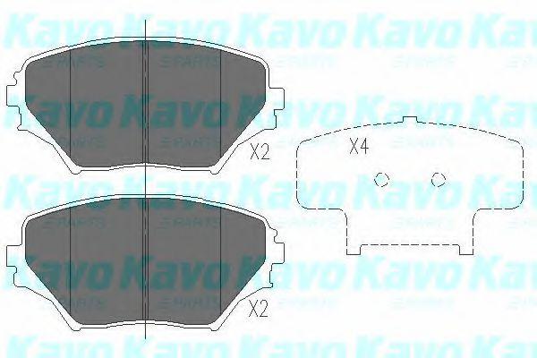 Тормозные колодки KAVO PARTS KBP-9011