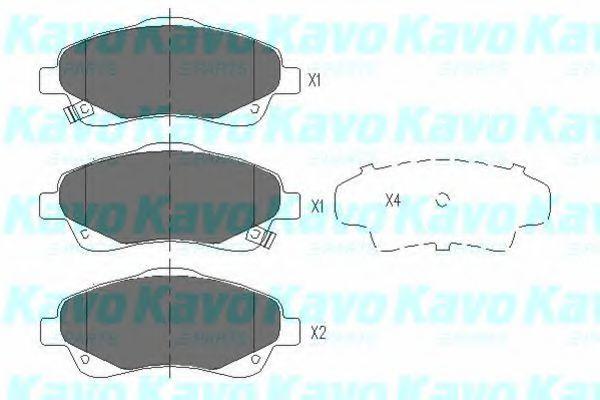Тормозные колодки KAVO PARTS KBP-9018