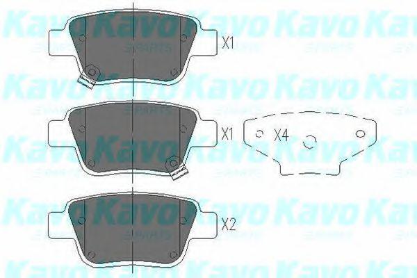 Тормозные колодки KAVO PARTS KBP-9019