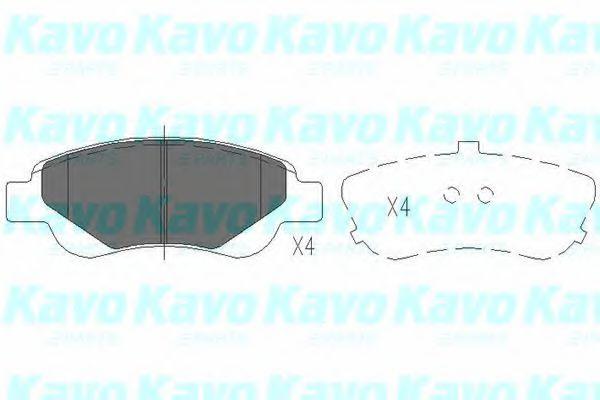 Тормозные колодки KAVO PARTS KBP-9024