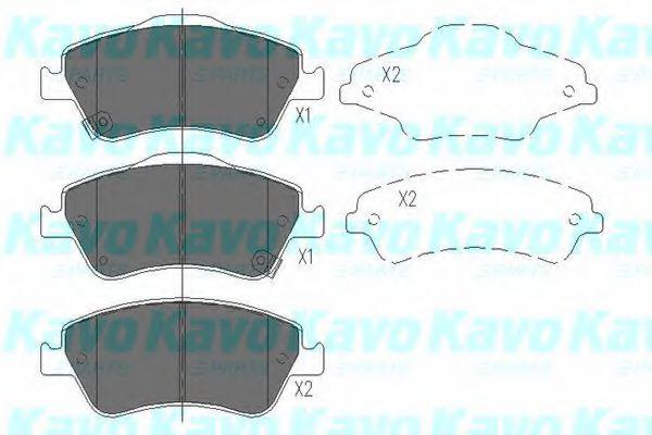 Тормозные колодки KAVO PARTS KBP-9027