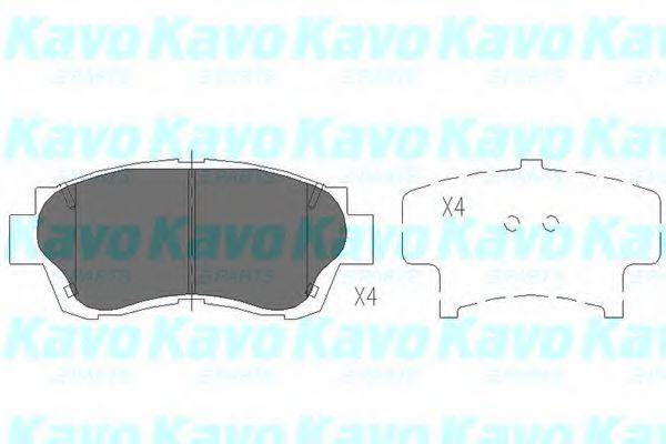 Тормозные колодки KAVO PARTS KBP-9042