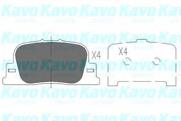 Тормозные колодки KAVO PARTS KBP-9069